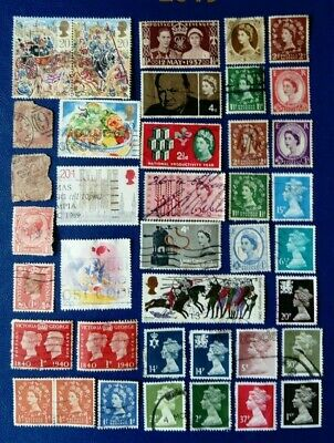 GB Stamps various from penny red to 1990s