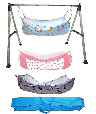 Baby Cradle, Cote, Swing fully folding Steel with three pcs of cotton hammock.