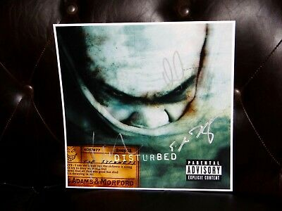 Disturbed Band Signed Signed The Sickness 12X12 Album Cover Photo & Setlist!!!