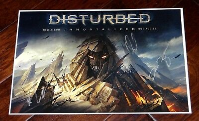 Disturbed Band Signed Immortalized 12X18 Promo Poster & Setlist!!!