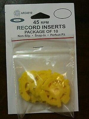 45 rpm Record Inserts~ package of 10, yellow plastic