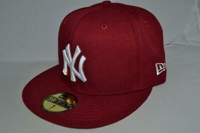 premium selection 1cb14 c7190 New Era New York Yankees Basic Mlb Fitted Cap Hat 59Fifty Authentic Burgundy