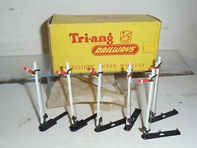 Tri-ang TT Railways-T112H- Box of SIX Home Signals(4=A & 2=B) xcelnt/boxed c1958