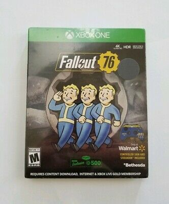 New Fallout 76 Steelbook & Controller Skin + 500 Atoms Edition Xbox One Sealed