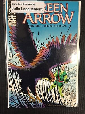DC Comics Green Arrow Signed/Autographed By Julia Lacquement Issue# 30