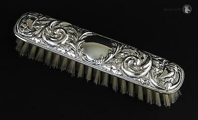 Vintage Filled STERLING SILVER CLOTHES BRUSH Birmingham 1980 W I Broadway & Co