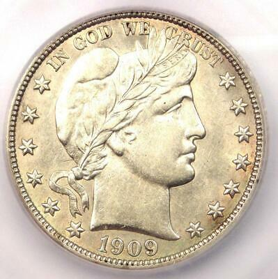 1909 Barber Half Dollar 50C - ICG MS60 UNC - Rare Certified Coin - $630 Value!