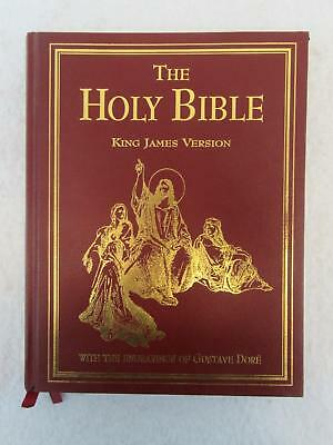 THE HOLY BIBLE KJV With the Engravings of GUSTAVE DORE 1998 Red Letter Edition