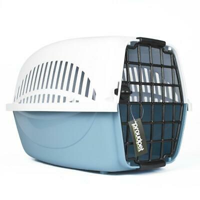 Hard PET CARRIER Dog Cat Travel Crate Portable Kennel Cage Air Box Small Blue