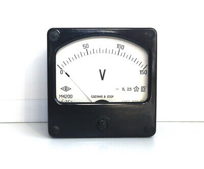 DC 0-150V Analog Dial panel Voltage Gauge Volt meter ,  USSR, RARE! Lot of 1 pcs