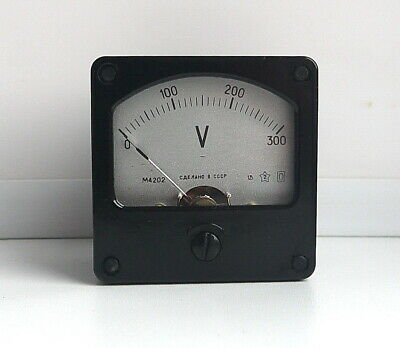 DC 0-300V Analog Dial panel Voltage Gauge Volt meter ,  USSR, RARE! Lot of 1 pcs