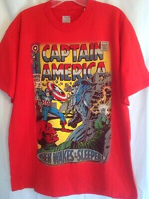 62971a7b2f129 Marvel Captain America Comic Book Cover Print Mens Graphic T - Shirt The  Sleeper