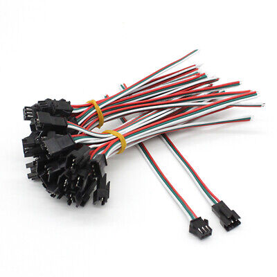 10PCS 3 Pin Connector Extension Cable Wire Male/Female for LED Strip Lights Lamp