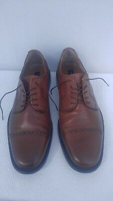 be687f9166cc PAOLO DE MARCO Handmade Brown Leather Lace-Up Shoes Made in Spain ...