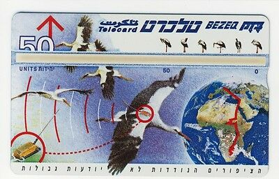 Israel 1995 Phone Card Telecard The Stork Bird 50 Units Unused New