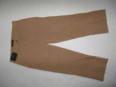 Next Tailoring Trousers 8 Regular Cropped Brown Camel Bnwt Rrp 40£