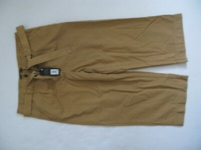 Next Size 12 Cropped Wide Leg Trousers Camel Brown Bnwt Rrp 36£