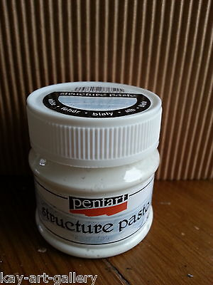 Structure Paste 100ml white For Decoupage Textured Surface Decoration Pentart