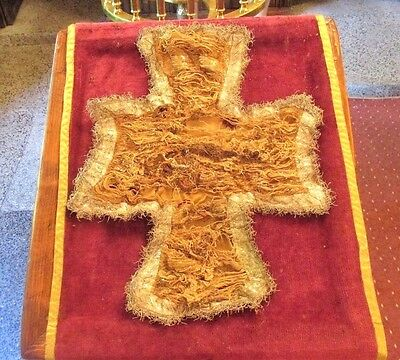 Rare Antique Old Orthodox Priest HOLY GRAIL COVER CROSS by 18-19 century Relic