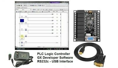 PLC Starter Kit Ladder Logic Professional Programmable Controller w Software USA