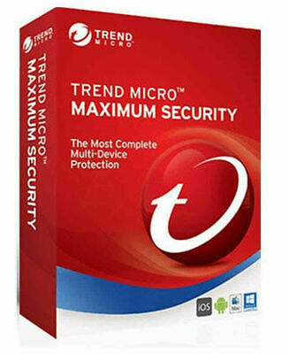 Trend Micro Maximum Security 2019 3 Devices 1 Year PC | MAC | Android