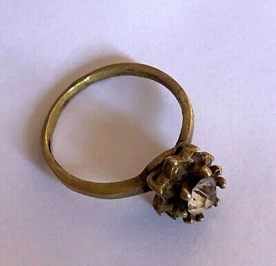 Medieval Rare Ancient ROMAN Bronze RING with a stone ARTIFACT Magnificent RING