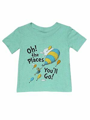 Toddler Boys Dr. Seuss Oh! The Places You'll Go! T-Shirt Heather Green