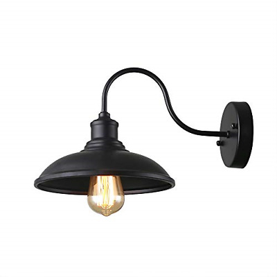 Giluta Gooseneck Wall Sconce Farmhouse Style Barn Light with Metal Shade Rustic