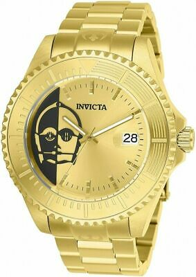Invicta Star Wars Limited Edition C-3PO Stainless Steel Gold Tone Watch 26166