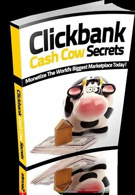 Clickbank Cash Cow Secrets eBook PDF Master Resell Rights +10 Free Ebooks