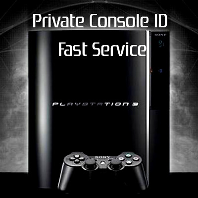 PS3 Console ID+PSID (CID, IDPS, PSID) 100% PRIVATE-QUICK DELIVERY