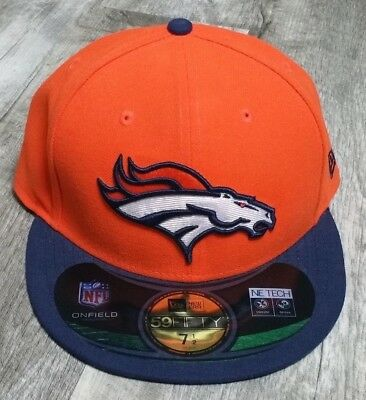 best sneakers ac9e2 3b7fe Denver Broncos New Era 59 Fifty Hat Fitted size 7 1 2 NWT NFL On