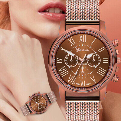 Luxury Women Watches Quartz Analog Stainless Steel Dial Casual Bracele Watch