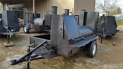 Pro BBQ Mobile Catering Business Smoker Grill Trailer Food Cart Truck Concession