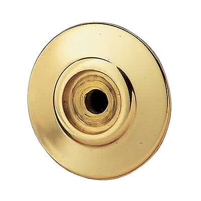 "Cabinet Knob Rosset Bright Solid Brass 1 1/2"" Backplate 