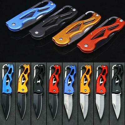 Survival Portable Fold Camping Tactical Folding Pocket Knife Ring Outdoor