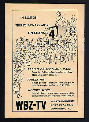 1956 TV ARTICLE~BOOMTOWN Cowboy Rex Trailer Fly's Plane Over Wbz