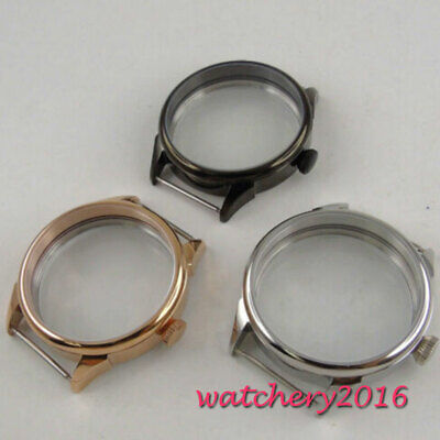 42mm PARNIS 316L stainless steel Watch CASE fit eat 6498 6497 movement