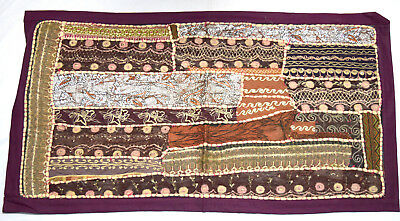 Beautiful traditional Indian decorative wall hanging heavy beaded work.i17-88 US