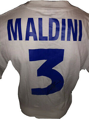 Signed Paolo Maldini Retro Kappa Italy Away Shirt