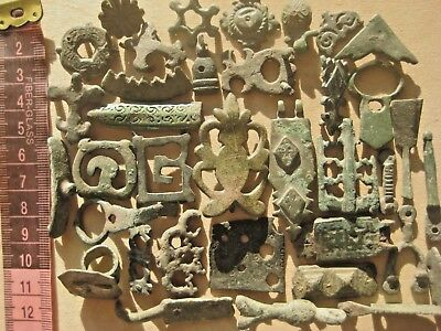 ANCIENT Bronze Belt Decoration Fragments Viking Kievan Rus 10-12 century AD