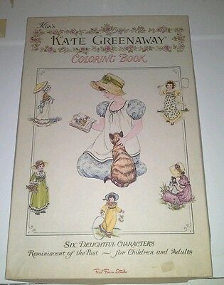 VINTAGE RED FARM Studio Kate Greenaway Giant Coloring Book ...