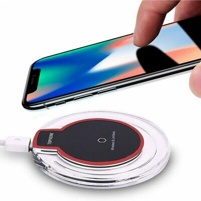 Qi Induktive Ladestation Wireless Charger Pad Für iPhone 6s 7 8 Plus XS Max XR