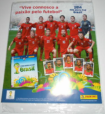 Panini 2014 Brazil FIFA World Cup Empty Sticker Album PORTUGAL Gratis version