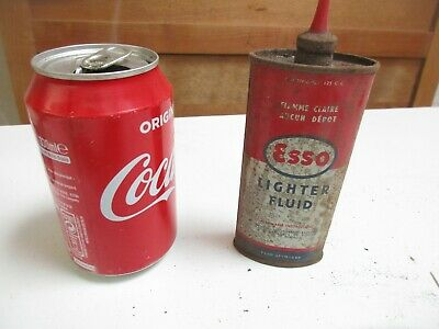 Ancien Petit Bidon ESSO LIGHTER FLUID déco Loft Vintage Garage collection