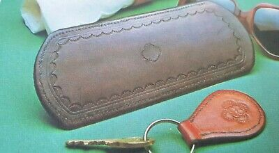 Vintage Sewing Pattern LEATHER SPECTACLE CASE and Key Fob Reproduced
