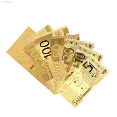 Gold Antique Plated Commemorative Notes 5 10 20 50 100 200 500Euro Collection