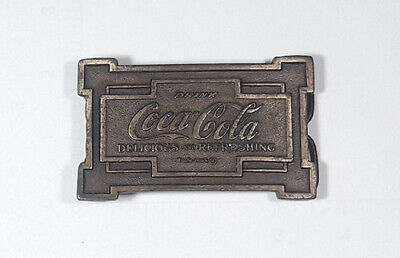 Coca Cola Brass Trademarked Reproduction Belt Buckle
