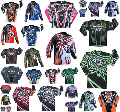 Wulfsport Adult Race Shirts Motorbike Motocross MX Leisure Top Ride Quad BMX