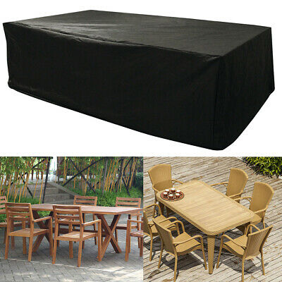 Black Extra Large Garden Rattan Outdoor Furniture Cover Patio Table Protection